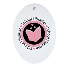 School Librarian Gift Ornament (Oval)