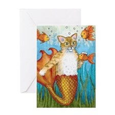 Cat Mermaid 27 Greeting Card