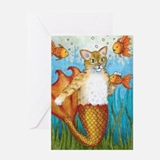 Cat Mermaid 27 Greeting Card