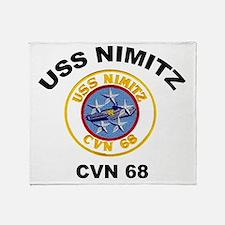 USS Nimitz CVN 68 Throw Blanket