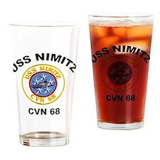USS Nimitz CVN 68 Drinking Glass