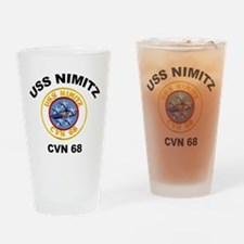 USS Nimitz CVN 68 Drinking Glass