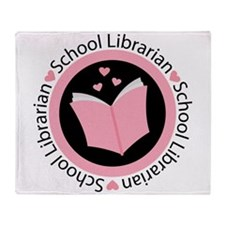 School Librarian Gift Throw Blanket