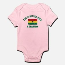 Life is better with a Ghanaian Infant Bodysuit