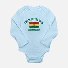 Life is better with a Ghanaian Long Sleeve Infant