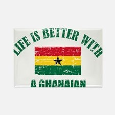 Life is better with a Ghanaian Rectangle Magnet