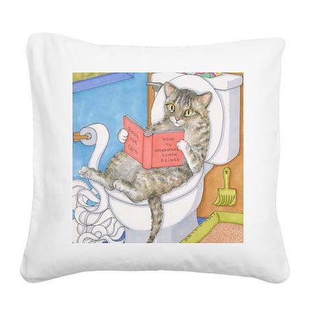 Cat 535 Square Canvas Pillow