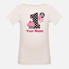 1st Birthday Zebra Cupcake T-Shirt