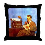 Voice-Operated Typewriter Throw Pillow