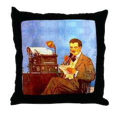 Voice-Operated Typewriter Throw Pillow