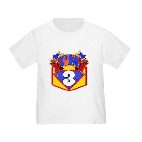 Superhero 3rd Birthday Toddler T-Shirt