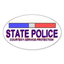 """STATE POLICE"" Oval Decal"