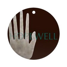 Hopewell Mound Mica Hand Ornament (Round)