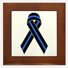 Memorial Ribbon Framed Tile