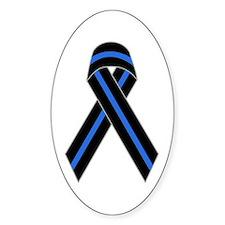 Memorial Ribbon Oval Bumper Stickers