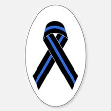 Memorial Ribbon Oval Decal