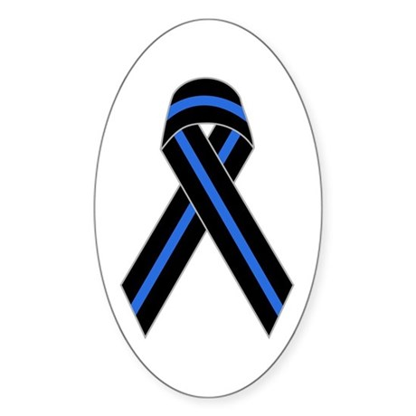 Memorial Ribbon Oval Sticker