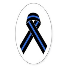 Memorial Ribbon Oval Stickers