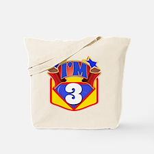 3rd Superhero Bday Tote Bag