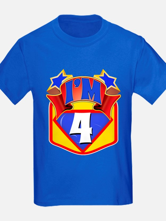 Superhero 4th Birthday T