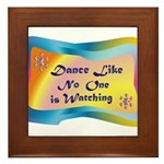 dance LIKE....png Framed Tile