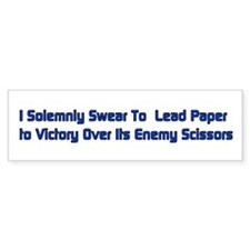 Rock Paper Scissors Bumper Bumper Sticker