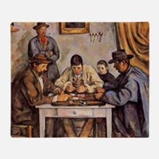 Cezanne - The Card Players (three me Throw Blanket