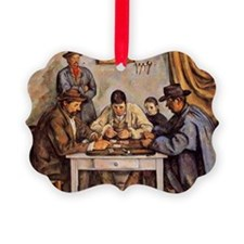 Cezanne - The Card Players (three Ornament