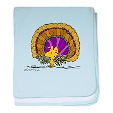 Woodstock Turkey baby blanket