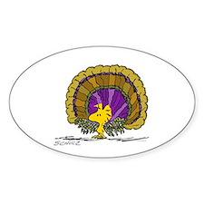 Woodstock Turkey Sticker (Oval)