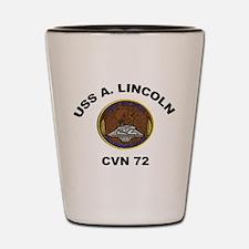USS A Lincoln CVN 72 Shot Glass