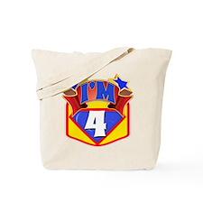 Superhero 4th Birthday Tote Bag