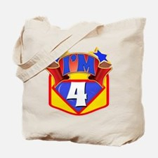 Superhero 4th Birthday Tote Bag