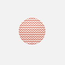 Coral Pink Chevron Mini Button