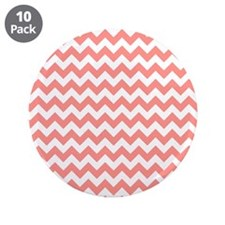 """Coral Pink Chevron 3.5"""" Button (10 pack)"""