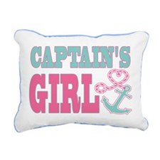 Captains Girl Boat Anchor and Heart Rectangular Ca