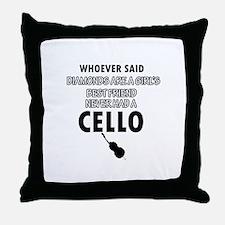 Cello better than Diamonds Throw Pillow