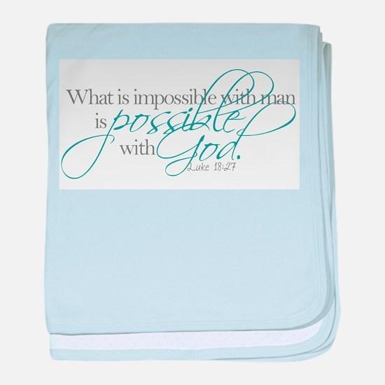 Bible verse baby blanket