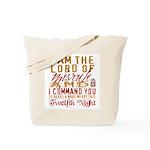 Lord of Misrule/Twelfth Night Tote Bag