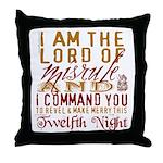 Lord of Misrule/Twelfth Night Throw Pillow