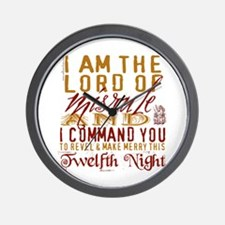 Lord of Misrule/Twelfth Night Wall Clock