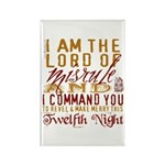 Lord of Misrule/Twelfth Night Rectangle Magnet