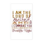 Lord of Misrule/Twelfth Night Sticker (Rectangular