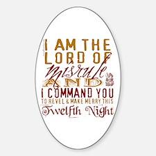 Lord of Misrule/Twelfth Night Oval Decal
