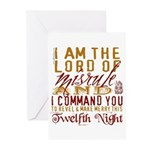 Lord of Misrule/Twelfth Night Greeting Cards (Pack