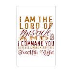 Lord of Misrule/Twelfth Night Mini Poster Print