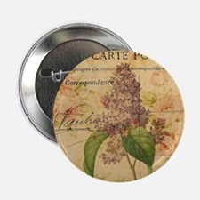 "vintage purple lilac floral botanical 2.25"" Button"