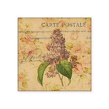 """vintage purple lilac floral Square Sticker 3"""" x 3"""""""