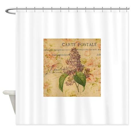 vintage purple lilac floral botanic shower curtain by admin cp62325139. Black Bedroom Furniture Sets. Home Design Ideas