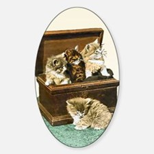 4 Cute Victorian kittens Decal